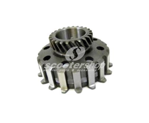 Clutch Gear Cog 24 teeth, for standard primary 65 teeth, DRT for Vespa 200 Rally, P200E, PX200 E with clutch cosa type ( 8 springs)