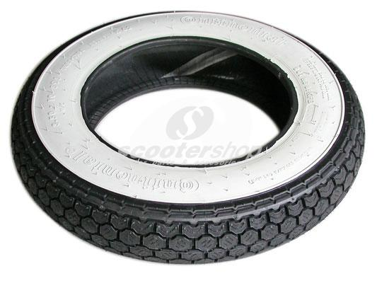 Tire Continental Zippy 3.50-10 with white walls for Vespa & Lambretta