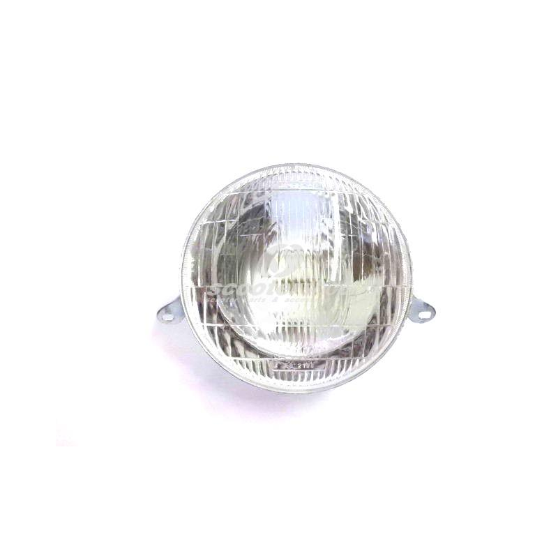 Headlight plastic for Vespa PX (with bulb holder BA20D - 12(6)-35/35 or 25/25 and BA15S 12 (6)/ 5 W) without lamps.