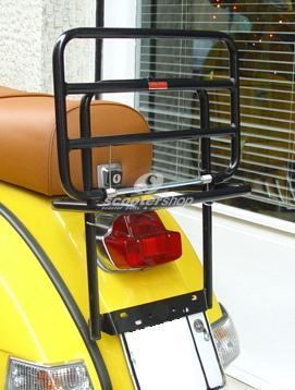 Rear luggage carrier black for Vespa PE-PX