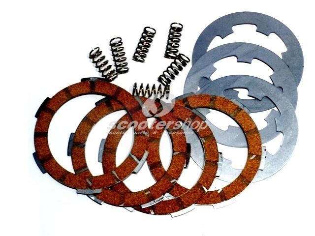 Clutch kit wit plates and springs for Vespa FL 125-50 cc