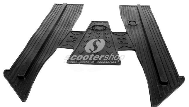 Floor Mat black for Vespa PK50SS ,125S , ETS , Automatica, for PK with floor runners