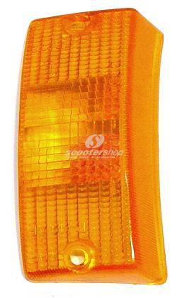 Indicator glass front right orange Vespa PE-PX