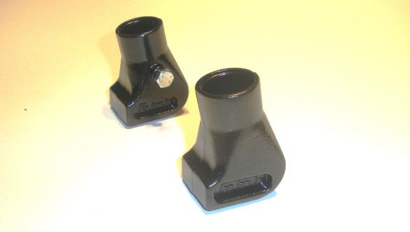 Aluminium stand boots black for Vespa PX-PE-T5-Cosa with 22mm diameter