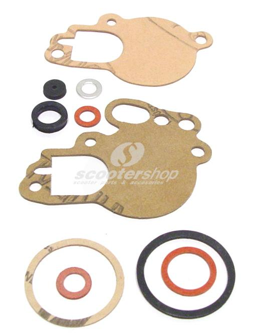 Gasket set for carburettor for Vespa PX (with oil pump) - Cosa