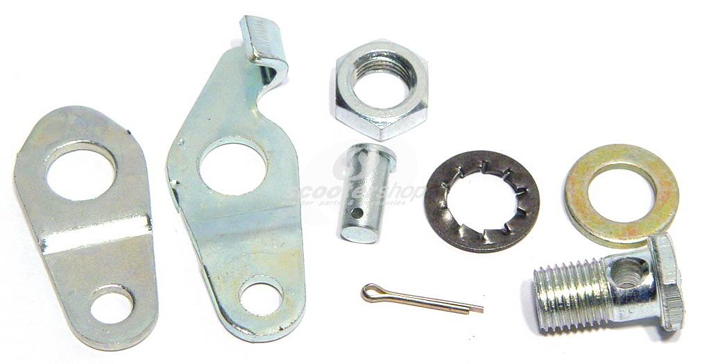 Set rear brake plates Vespa PE-PX