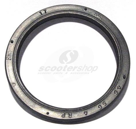 Oil seal for front brake baseplate for Vespa PX-T5-Cosa-PK. Dimensions 46x56x4mm