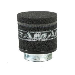 Racing Air Filter black  RAMAIR  for Dellorto PHBH 28,30 -Mikuni TMX 32,38 -PWK 33,35, connection to manifold 62mm, length 85 mm.