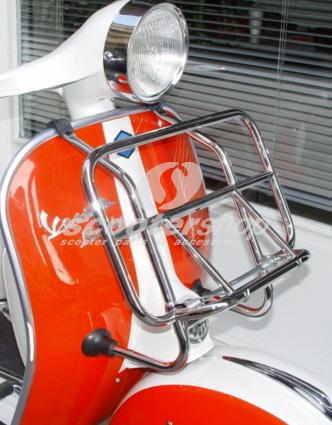 Luggage carrier front Cuppini chrome for Vespa & Lambretta