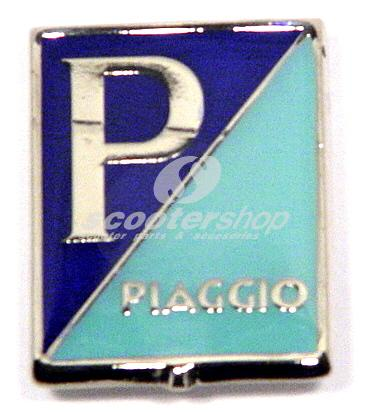 "Emblem ""Piaggio"" for horn cover old type"