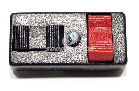 Indicator switch with alarm switch