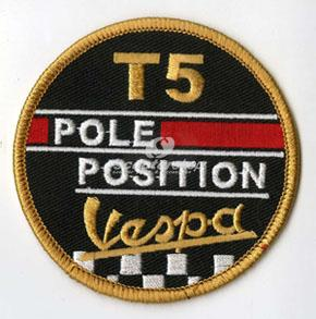 Patch Vespa T5 - Pole Position. Great for Gift.
