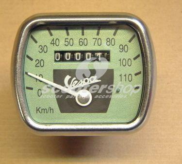 Speedometer for Vespa VL 1-2-3 and other models with tube handlebar