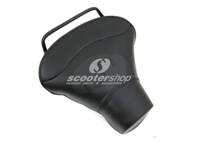 Front single seat black (Aquila type) and holder for Vespa from 1958 TO 2006 (not small frame)