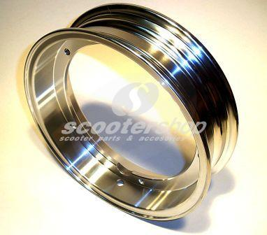 Rim alloy polished tubeless SIP  2.50-10 for Vespa PX / T5 / COSA