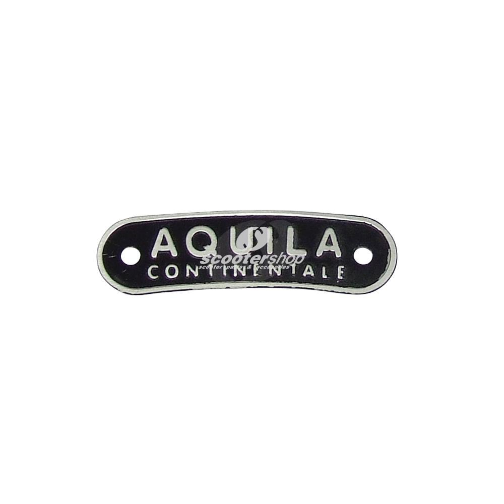Emblem Aquila, seat and single saddle, fixation with 2 rivets, pin distance: 51mm, 63.5x17 mm.