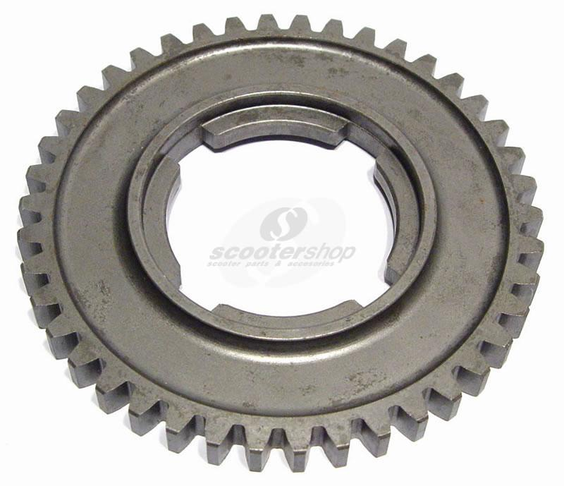 Gear Cog 42 teeth, 2nd gear, PX old ,PX ARCO for Vespa 180-200 Rally,P125-150X  ,PX125-150E,P150S  ,P200E,`98,`11,T5 ,Cosa, D 109,5 mm.