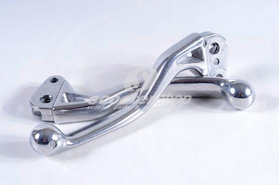 Alluminium levers pair for Vespa PK ( for models with plastric levers)