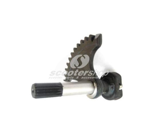 Kickstart Shaft for Vespa 125 VNB4-6T, GT, GTR, Super, TS, 150 VBB2T, GL, Sprint, Super, 160 GS, 180 SS, 180-200 Rally 11 teeth.