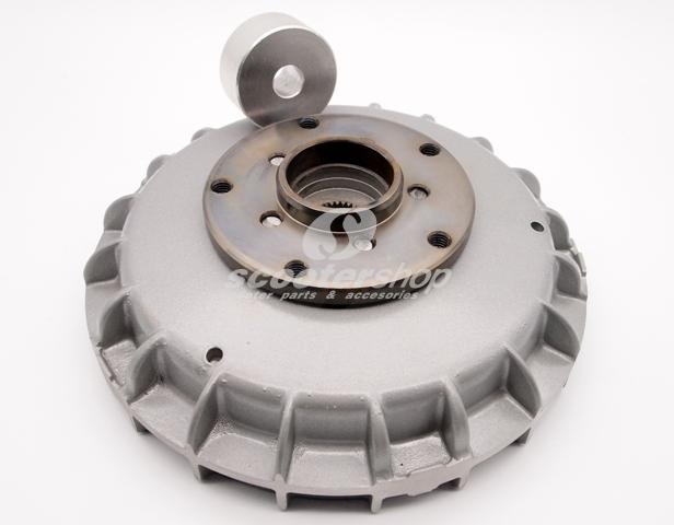 Brake drum Serie-Pro modified for 12'' GTS rim for Vespa Pe, Px, T5.