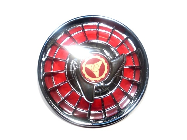 Brake drum cover red-chromed for Vespa with 8' wheel