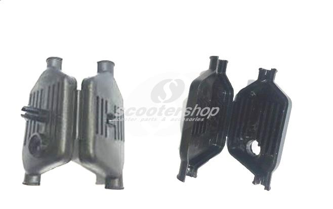 Junction Box SIP for Vespa 125 GTR 2nd, TS 2nd, 150 Sprint V 2nd, 150 Super 2nd, 200 Rally , P125-150X, P200E, PX125-200E  black.