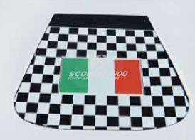 Mud flap chequered with Italy flag logo for Vespa-Lambretta