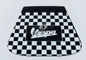 Mud flap chequered with VESPA logo