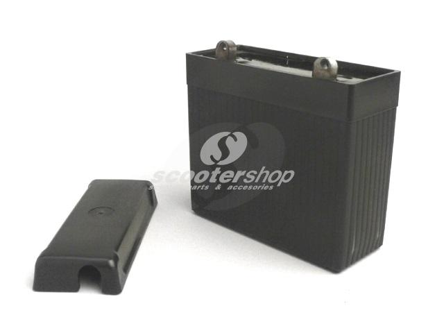 Battery  6V 7Ah - 126x126x48mm - Vespa Sprint150 (VLB1T) , VNB1T, VL3T, VB1T, VBA1T, VBB1T, GL150 (VLA1T), VGL1T ,150 T4  - lead gel type