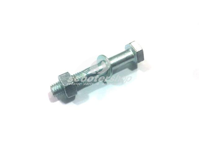 Screw and nut 10mm for rear shock absorver CARBONE (72mm) for Vespa PX-PK-COSA after 1985 .