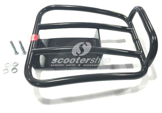"Luggage Carrier rear, SIP ""70s"" for Vespa GTS, GTS Super, GTV, GT 6, GT L 125-300ccm 4T LC black, load area: 21,5x21cm"
