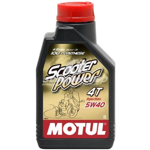 Oil for 4T engines  MOTUL Scooter POWER 5W 40 100% synthetic