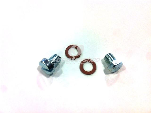 Screw oil kit including sealing ring for Vespa after 1978, Vespa Px, Pe, Cosa, T5