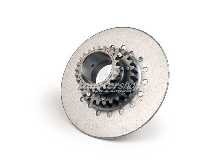 Clutch Gear Cog DRT 22 teeth, for primary 67-68 teeth (for clutch with 7 springs), for Vespa PX 80-125-150 E before 1994 (the original is 20-21 teeth) d: 115mm