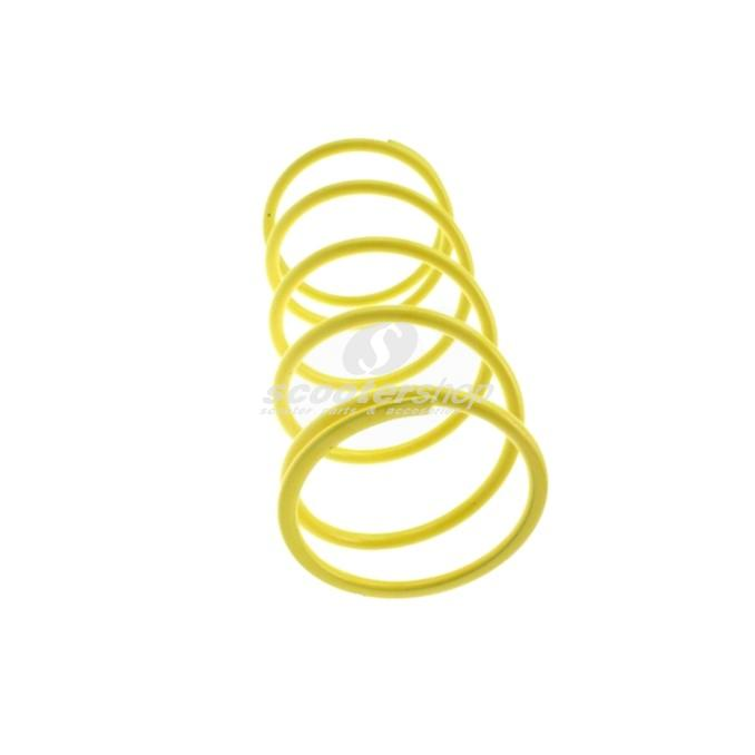 Spring MALOSSI for Multivars M5111258, M5111397, M5111885 and original Variator,,  stiffness: 6,8k (+22%), thikness 4,6mm, yellow,  L:112 mm, D: 65 mm.