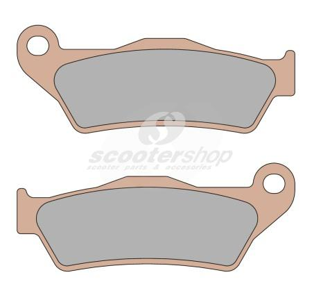 Brake Pads front MALOSSI MHR, syntered metal, 94x36,7x7,6 mm .