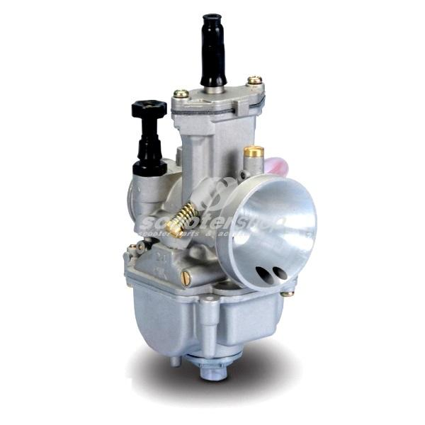 Carburettor POLINI 30mm connection engine: 34,8mm, connection filter : 48,8 mm, main jet 135, idle mixture jet 45, jet needle 30, with choke button