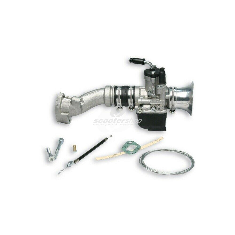 Carburettor Kit Malossi PHBL 25B for Vespa 90-125, PV, ET3  also for Vespa 50 , Special, SS,  2-hole, disc valve,  rubber connection.