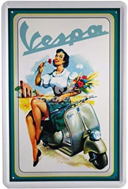 Metal Sign VESPA, 400x300 mm