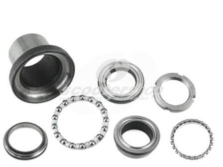 Steering Head Bearing Set upper and lower for Lambretta LI, TV. SX, GP, DL after 1965, for models without chrome ring.