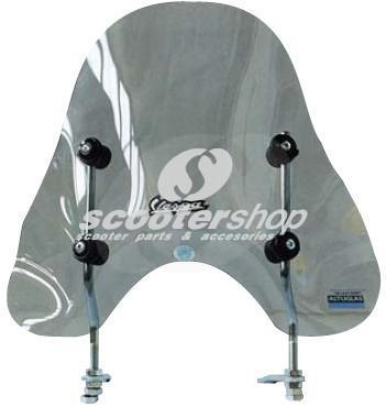 Small windscreen dark fume for Vespa PX-ARC incudes fittings(7km more top speed!!!!)