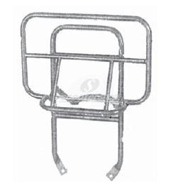 Luggage carrier rear Cuppini chrome with folder down for Vespa PE-PX.
