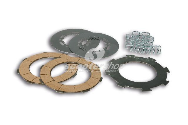 Clutch plates set (7springs withs 3 disc plate) Malossi for Vespa Px 200-Cosa1 <1997-T5 125