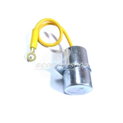 Condenser EFFE for Vespa 90 ,R ,SS ,100 , 125 ,PV ,150 Sprint, V 50 N, L,R,Special,SR h 32 mm, Ø 20 mm, incl. mounting, 1 cable, mF 0,32