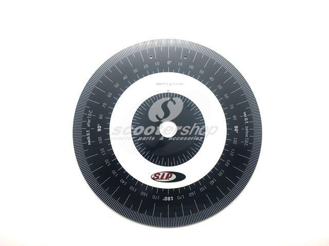 Ignition Timing degree disc for ignition adjustment, for Vespa and Lambretta.