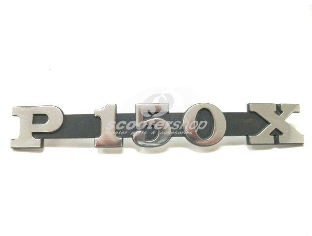 "Badge ""P150X"" sidepanel for Vespa P150X / PX150E"