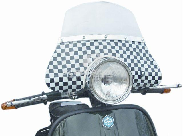 Flyscreen small  checkered for Vespa PE - PX - Sprint Veloce - Rally.