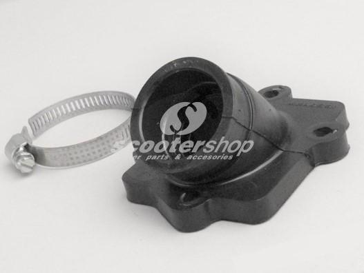 Intake Manifold MALOSSI MHR 22mm, for MINARELLI horizontal inner diameter: 22mm, outer diameter: 28mm, short, straight