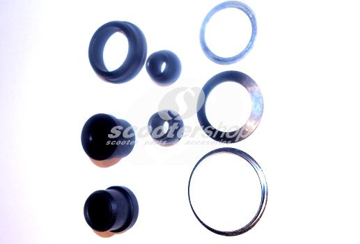 Handlebar anti vibration bush & shim kit (8 pieces) for Lambretta III series until 1965
