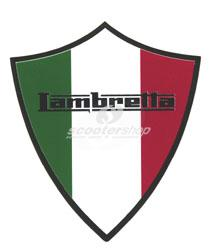 Sticker Italian flag - Lambretta